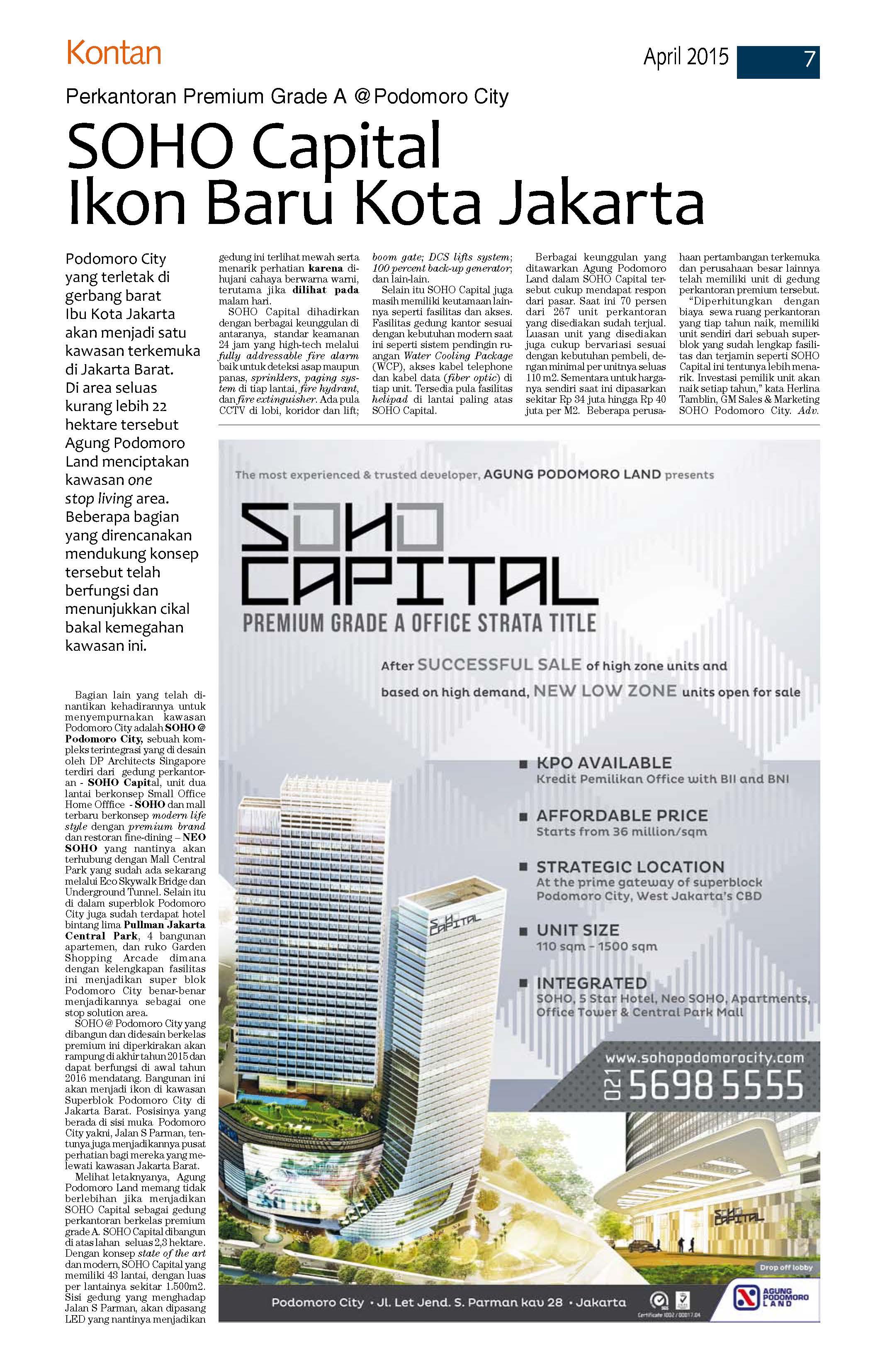 SOHO Capital-Kontan 9 April 2015