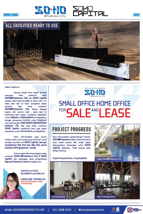 SOHO Poci e-newsletter April - June 2017